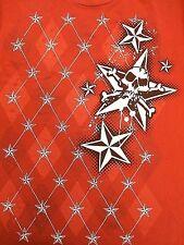 Youth Pacific sports T-shirt XL large Red skulls stars skate boarding BMX MX
