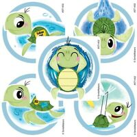 Sea Turtles Stickers x 5 - Sea Life Party - Turtles Stickers x 5 - Birthday Fun