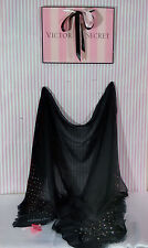 Victoria's Secret black with Studs Scarf NWT