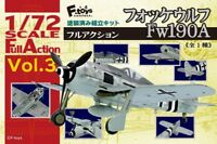 F-Toys 1/72 Focke Wulf Fw190A Full Action Scale Model Kit Assembly Pre-painted