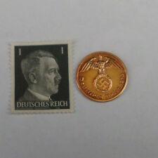 Nazi Zeit 1 Pfennig 1939 A + 1 Pfennig Marke Kopf von Reichskanzler Adolf Hitler