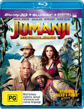 Jumanji 2 Welcome To The Jungle 3D Blu-ray Region B New!