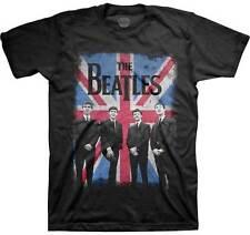THE BEATLES - Union Jack Photo - T SHIRT S-M-L-XL-2XL Brand New official