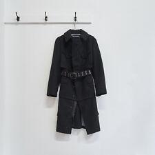 JUNYA WATANABE AW 2006 black wool reconstructed military surplus zip coat S