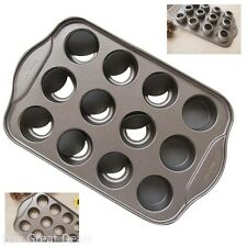 Tosnail 12 Cavity Mini Cheesecake Pan with 12 Individual Cups Safe Non Stick New
