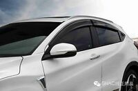 GENUINE OEM BLACK WINDOW DOOR VISOR WEATHERSHIELD FOR HONDA HRV VEZEL 2014-2018