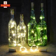 10PCS Wine Cork Gin LED Bottle Lights Warm White Fairy String Light Xmas Wedding