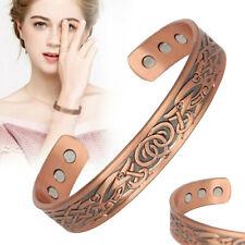 Mens Women Magnetic Therapy Bracelet Arthritis Pain Relief Pure Copper Bangle