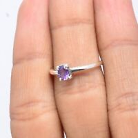 Amethyst Gemstone Indian Handmade Jewelry 925 Solid Sterling Silver Ring Size 5