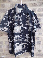 Mens vintage hawaiian shirt Hawaiian palm tree pattern Summer festival wear