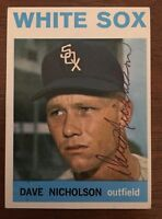 DAVE NICHOLSON 1964 TOPPS AUTOGRAPHED SIGNED AUTO BASEBALL CARD 31 WHITE SOX