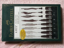 Faber-Castell 8 Pitt Black Artist Pens Markers