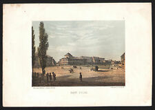 """WARSCHAU WARSZAWA """"Bank Polski"""" schöne Ansicht Lithographie um 1860 ORIGINAL"""