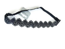 Pretty Black Lacy Bandeau Kylie Hair band Headband Browband