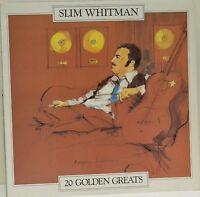 Slim Whitman, 20 Golden Greats, 1981, LP Record (L4)