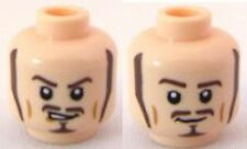 LEGO - Minifig, Head Long Brown Sideburns, Moustache and Goatee (Will Turner)