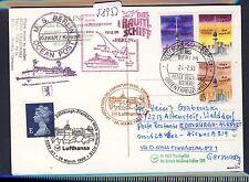 58953) LH FF Frankfurt - Edinburgh GB 28.3.99, Karte SP BP ab Kuwait