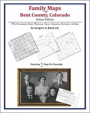 Family Maps Bent County Colorado Genealogy Plat History