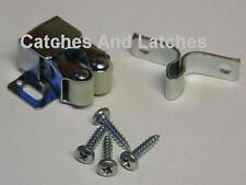 1 x Twin Roller Spring Catch Steel Galvanize Cupboards Plinths Caravans FREE P&P