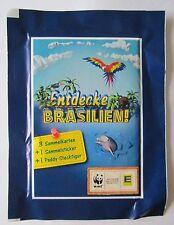 EDEKA Entdecke Brasilien 3 Tüten OVP Sammelkarten Sammelsticker Paddy-Steckfigur