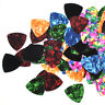Lots of 100 pcs Medium 0.71mm Triangle Celluloid Guitar Picks Plectrums 8 Colors