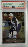2015 2016 Nikolaj Ehlers UPPER DECK YOUNG GUNS FOIL PSA 10 ROOKIE CARD RC BGS ?
