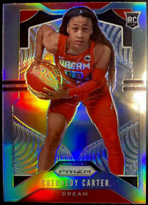 🔥2020 Chennedy Carter RC Rookie Green Refractor Panini Prize WNBA #92 Dream