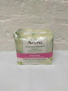 Aveeno Positively Radiant Makeup Removing Wipes Twin Pack( 2-25 Ct)