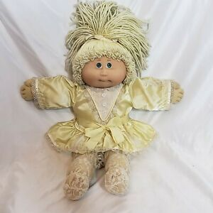 Jesmar Cabbage Patch Kid 1984 Blonde Hair Green Eyes Made Spain Coleco Clothes
