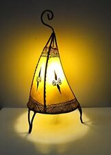 Moroccan Henna Lamp- Round base C shape 38 CM yellow