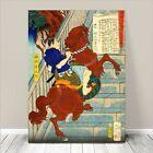"AWESOME Japanese SAMURAI ARCHER Art CANVAS PRINT 24x16""~ Riding Horse #046"