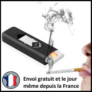 BRIQUET ELECTRIQUE USB RECHARGEABLE SANS GAZ NI ESSENCE TEMPETE ANTI VENT FUMEUR
