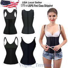 Womens Body Shaper Latex Rubber Waist Trainer Cincher Underbust Corset Shapewear