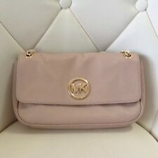 Michael Kors Fulton Small Shoulder Flap Bag Ballet Pink Leather Women's Handbag