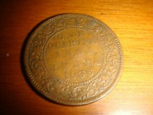 INDIA, 1936 One Quarter Anna, King George V, nicely toned, decent circulated