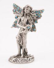 Birthstone Fairy December Turquoise - Blue Pewter Figurine