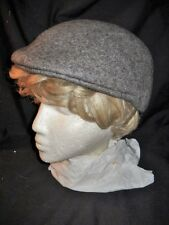 "GRAY HAT WITH SOFT BILL / VISOR 100% Wool Size 24 1/4"" Brimless Toque Free Ship"