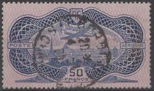 """FRANCE STAMP TIMBRE AERIEN N° 15 """"CAUDRON SIMOUN 50F BURELAGE 1936 """"OBLITERE TTB"""