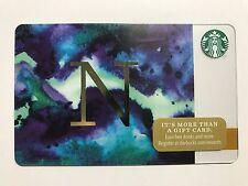 STARBUCKS Card Christmas 2014 Monogram Alphabet Series Letter N - Free Shipping