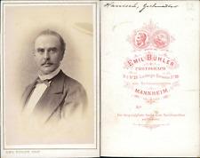 Bühler, Mannheim, Hamisch, ténor CDV vintage albumen carte de visite Tirag