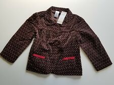 NWT Gymboree OUTLET 4T/5T Brown Pink White Red polkadot jacket