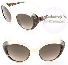 CHRISTIAN DIOR Cat Eye Women Sunglasses PANTHER 2 5O5 HA Ivory Brown Gradient