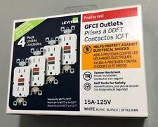 Leviton 15 Amp 125-Volt Self-Test Tamper Resistant GFCI Outlet, White (4-Pack)