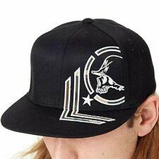 Metal Mulisha Men's Hide Flexfit S/M Hat Black Headwear Baseball Cap