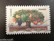 FRANCE 2011, timbre AUTOADHESIF 530, FETE TIMBRE, ARBRE FRUIT oblitéré, VF STAMP