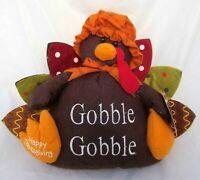 Girl Turkey Figure Plush Thanksgiving Centerpiece Autumn Fall Harvest Home Decor
