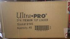 Ultra Pro Premium Toploader caso-Tamanho Padrão 3x4 - 1,000ct - Novo em folha!