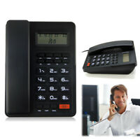 Corded Landline Phone Desktop Telephone Caller ID Large LCD Display Home Office
