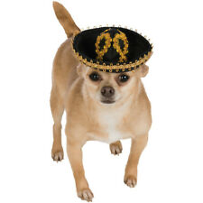 Black and Gold Pet Sombrero Dog Costume Mexican Mariachi Puppy Taco Bell