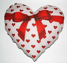 Cuscino cuore fiocco personalizzato con foto e testo - idea regalo San Valentino